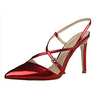 Women's Summer Heels PU Casual Stiletto Heel Black / Red / White / Silver / Gold / Champagne
