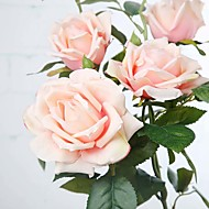 """32.3"""" European Style 3 Heads Artificial Roses Silk Flowers Home Decoration Artificial Flower Wedding Bouquets 1pc/set"""
