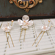 Women's Plastic Headpiece-Wedding / Special Occasion / Casual / Outdoor Hair Pin 3 Pieces