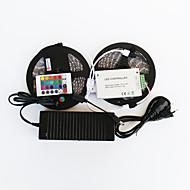 ZDM™ 10 M 600 5050 SMD RGB Cortável / Controlo Remoto / Regulável / Adequado Para Veículos / Auto-Adesivo / Cores Variáveis 144 WFaixas