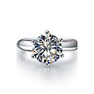Prstýnky Šperky Stříbro / Pokovená platina Dámské Prsteny s kamenem 1ks