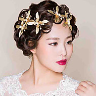Bride's Butterfly Shape Crystal Rhinestone Hair Wedding Accessories Hair Clip 1 Piece