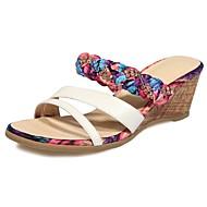 Women's Shoes Wedge Heel Wedges Sandals Outdoor / Dress / Casual Fuchsia