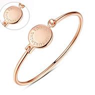 Men's / Unisex / Women's / Couples' Cuff / Personalized Bracelet Gold / Platinum Non Stone