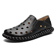 Men's Shoes Wedding / Office & Career / Party & Evening / Athletic / Dress / Casual Nappa Leather Loafers Black / Brown