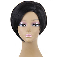 Heat Resistant Cheap Fake Hair Wig Short Black Synthetic Wigs for Women