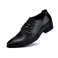 Men's Spring / Summer / Fall Styles PU Wedding / Office & Career / Casual / Party & Evening Flat Heel Black