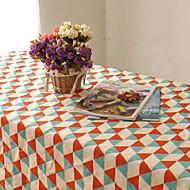 אופנת בד שולחן HotSale בדרגה גבוהה כותנת פשתן מרובע שולחן סלון בד כיסוי מגבת דוגמת המשבצות