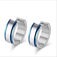 Earring Circle Jewelry Women Fashion Party / Daily / Casual Stainless Steel 1 pair Blue