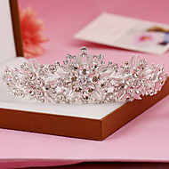 Women's Sterling Silver / Rhinestone Headpiece-Wedding / Special Occasion Tiaras 1 Piece