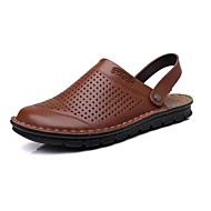 Men's Shoes Outdoor / Office & Career / Athletic / Dress / Casual Nappa Leather Clogs & Mules Black / Red / Taupe