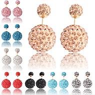 Earring Stud Earrings Jewelry Women Others / Alloy / Rhinestone 2pcs Silver