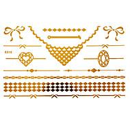 tetování samolepky airbrush tetování blány ženy / dospělá zlatá papír 1 23 * 15 * 0,3