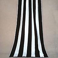 """Fashion Black&White Striped Pattern Full Cotton Bath Towel 55"""" by 27.5"""""""