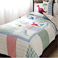 "2PC Quilt Sets Full Cotton Cartoon Dinosaur Pattern Soft 90""W*98""L"