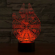 Urlaub Lampe 3d bulbing Licht Gang Form Millennium Falcon Star Wars Lichtfarbwechsel LED-Nachtlicht