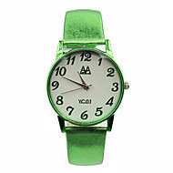 Women's Fashion Watch Casual Watch Quartz Leather Band Candy color Blue Red Brown Green Rose