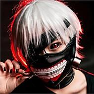 viileä cosplay tokio ghoul kaneki ken halloween säädettävä vetoketju potkuri maski