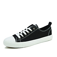 Men's Shoes Canvas Casual Sneakers Casual Sneaker Flat Heel Others Black / White