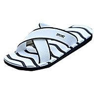 Men's Summer PU Casual Flat Heel Black Blue White Royal Blue
