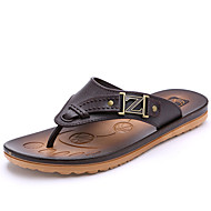 Men's Summer Flip Flops PU Casual Black / Blue / Brown