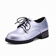 Women's Shoes PU Spring / Summer / Fall / Winter Heels / Ankle Strap / Pointed Toe Oxfords Outdoor / Office &