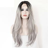 Grade 8a # 1B cheveux gris pleine perruque de dentelle dentelle ombre perruque avant indiens vierges cheveu humain sans colle perruque