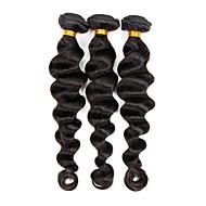 Cabelo Humano Ondulado Cabelo Indiano Ondulação Larga 3 Peças tece cabelo