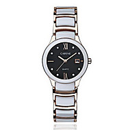 Women's Fashion Watch Quartz Japanese Quartz Casual Watch Stainless Steel Band White