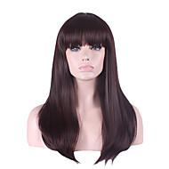 best-seller in Europa e gli Stati Uniti una parrucca marrone scuro scoppio accurato naturale 26 pollici lunghi capelli lisci