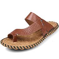 Muške Papuče i japanke Proljeće Ljeto Jesen Udobne cipele Mekana koža Aktivnosti u prirodi Ležeran Ravna potpetica Pletena ljetna obuca