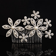 Women's Rhinestone / Crystal/ Imitation Pearl Headpiece-Wedding / Special Occasion / Outdoor Hair Combs 1 Piece