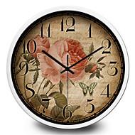 Simple Decoration Stickers Antique Clock Home Furnishing Quartz Wall Clock