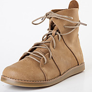 Boots Fall / Winter Round Toe Leather Outdoor / Casual Flat Heel Gore Brown / Camel