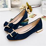נעלי נשים-שטוחות-PU-נוחות / סגור-שחור / כחול-קז'ואל-עקב שטוח