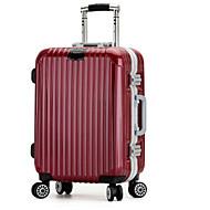 Unisex Metal Outdoor Luggage Black / Burgundy