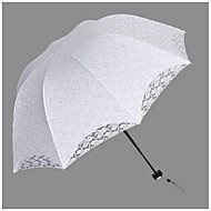 "Wedding / Daily Umbrella Post Handle Black / White 21.7""(Approx.55cm) Plastic 34.7""(Approx.88cm)"