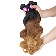 Ombre Włosy brazylijskie Body wave 12 miesięcy 4 elementy sploty włosów
