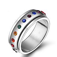 Karikagyűrűk Rozsdamentes acél Strassz Divat Ékszerek Napi Hétköznapi 1db