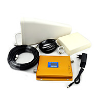 gsm / 3g W-CDMA mobiltelefon dual band signal booster, signal booster + log periodisk antenne + plane antenne
