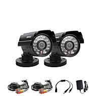 annke® 2pcs 800tvl de corte IR 960 H 24IR cámaras de circuito cerrado de vigilancia de seguridad en el hogar