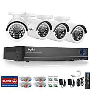 sannce® 4ch ahd DVR 4pcs 720p ir Indoor-Outdoor-CCTV-Kamera Sicherheit zu Hause Überwachungssets CCTV-System geschnitten