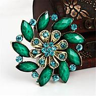 Vintage Fashion Flower Rhinestone Brooches For Women