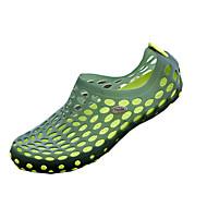 MasculinoBuraco Shoes-Rasteiro-Preto Azul Marrom Verde-Couro Ecológico-Casual
