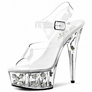 Women's Shoes PVC Spring/Summer/Peep Toe/Platform Heels/Sandals Wedding/Party & Evening/Casual Stiletto Heel