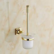 Toiletbørsteholder / Badeværelsesgadget / Ti-PVD / Vægmonteret /7.7*4.9*15 inch /Messing /Neoklassisk /19cm 13cm 0.65KG