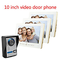 10 tommer store skærm hd 700 video intercom dørklokken på en villa tre