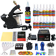 Solong Tattoo Beginner Tattoo Kit 1 Pro Machines Power Supply Needle Grips Tips US Dispatch