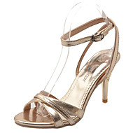Women's Shoes Patent Leather Stiletto Heel Heels / Styles / Open Toe Sandals Office & Career / Party & Evening / Silver / Rose Gold