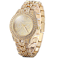 Women's Dress Watch Fashion Watch Casual Watch Casual Watch Imitation Diamond Quartz Stainless Steel Rose Gold Plated BandVintage Sparkle